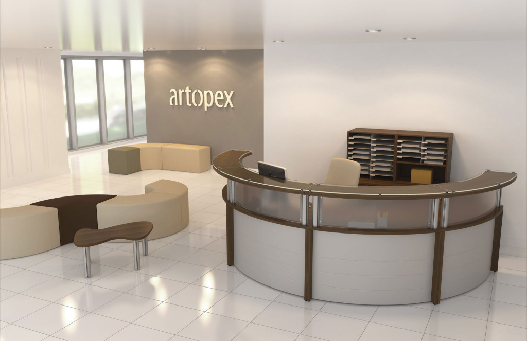 Artopex Half Circle Reception Desk